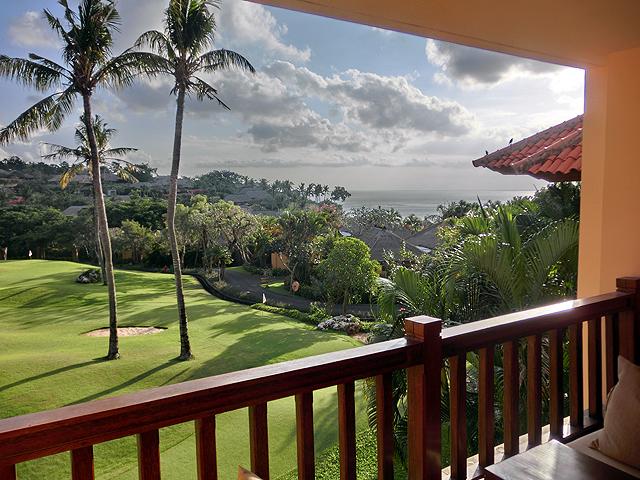 アヤナホテルお部屋からの眺めジンバランベイ